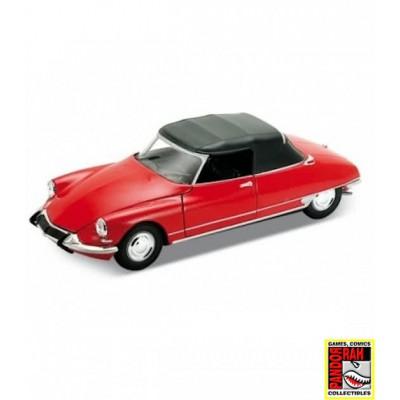Welly Citroën DS19 Cabriolet Rood 1:39