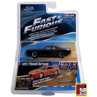 Jada Fast & Furious Build 'n Collect Wave 2 - Letty's Plymouth Barracuda 1:55