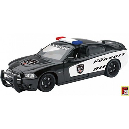 New Ray Dodge Charger Pursuit Police Zwart 1:24