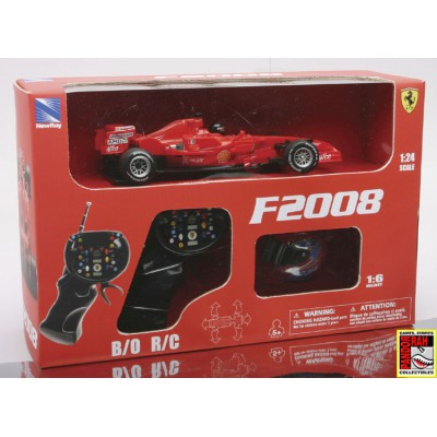 New Ray Ferrari F2008 F. Massa Met Helm RC Rood 1:24