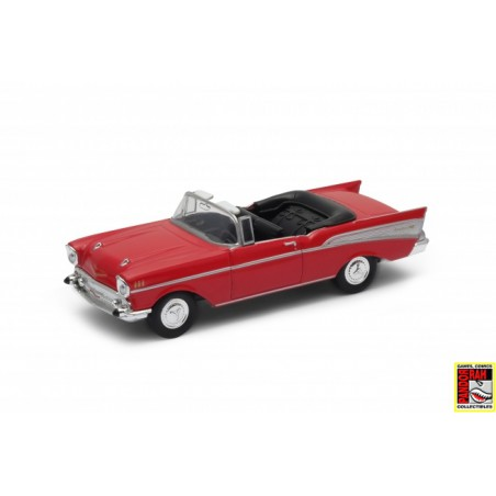 Welly 1957 Chevrolet Bel-Air Convertible Rood 1:39