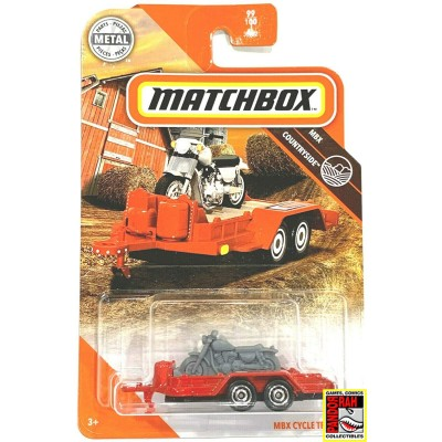 Matchbox MBX Cycle Trailer Rood 1:65