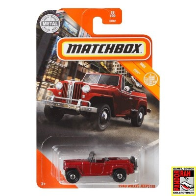 Matchbox 1948 Willys Jeepster Kersenrood 1:65