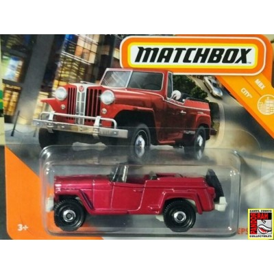 Matchbox Jeep Willys Rood 1:65